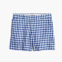 Lightweight short in gingham linen