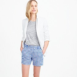 Lightweight short in gingham linen