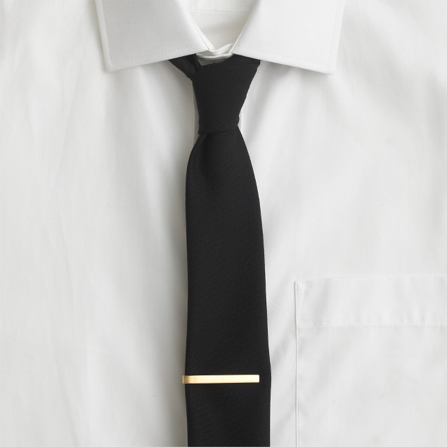 Brushed tie clip