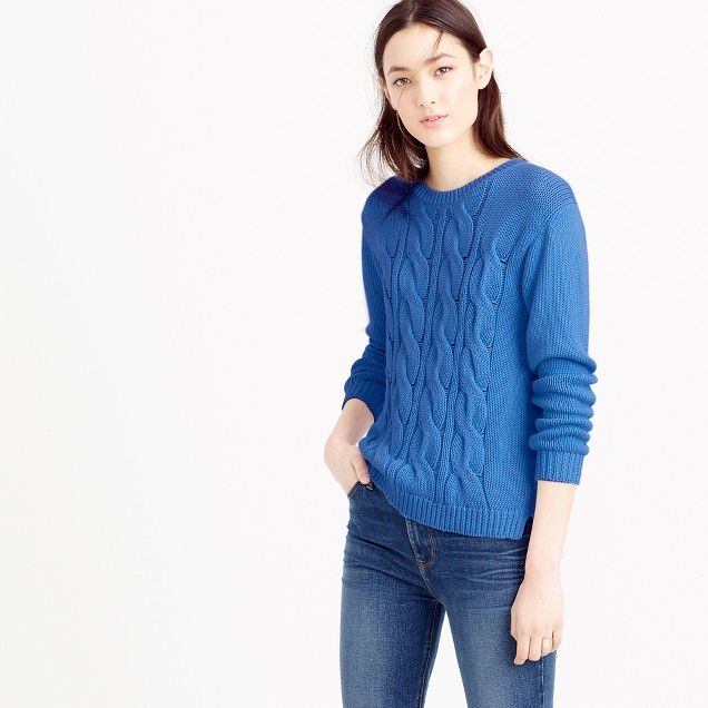 Cotton cable sweater