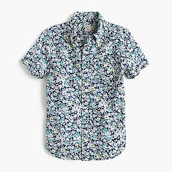 Kids' short-sleeve Secret Wash shirt in navy floral