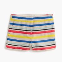 Colorful jacquard striped short