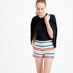 Colorful jacquard striped short