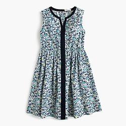 Girls' navy floral dress
