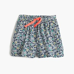 Girls' skirty short in navy floral