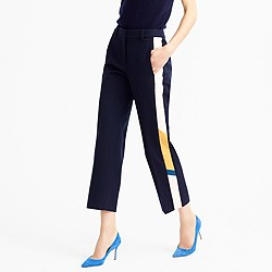 Collection patio pant with snakeskin tux stripe