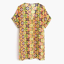 Beach tunic in kaleidoscopic floral