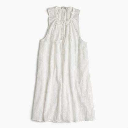 Sleeveless clip-dot tunic