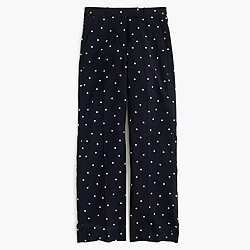 Petite drapey pant in polka dot