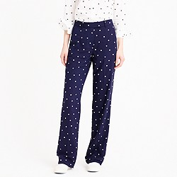 Drapey pant in polka dot