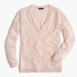 Merino-linen V-neck sweater