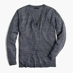 Merino-linen V-neck sweater