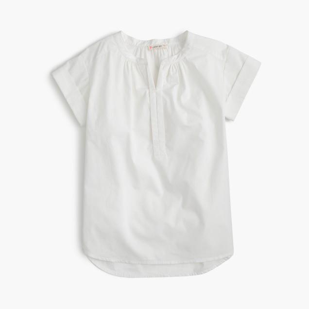 Girls' rolled-sleeve tunic
