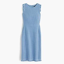 Tall sheath dress in textured tweed