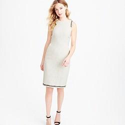 Sheath dress in textured tweed