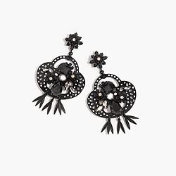 Midnight crystal chandelier earrings