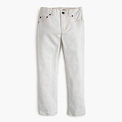 Boys' slim jean in white