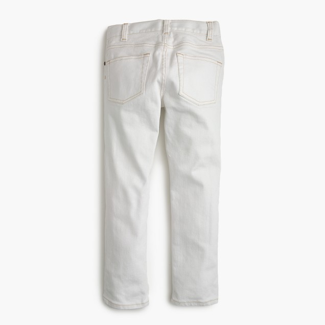 Boys' white jean in slim fit