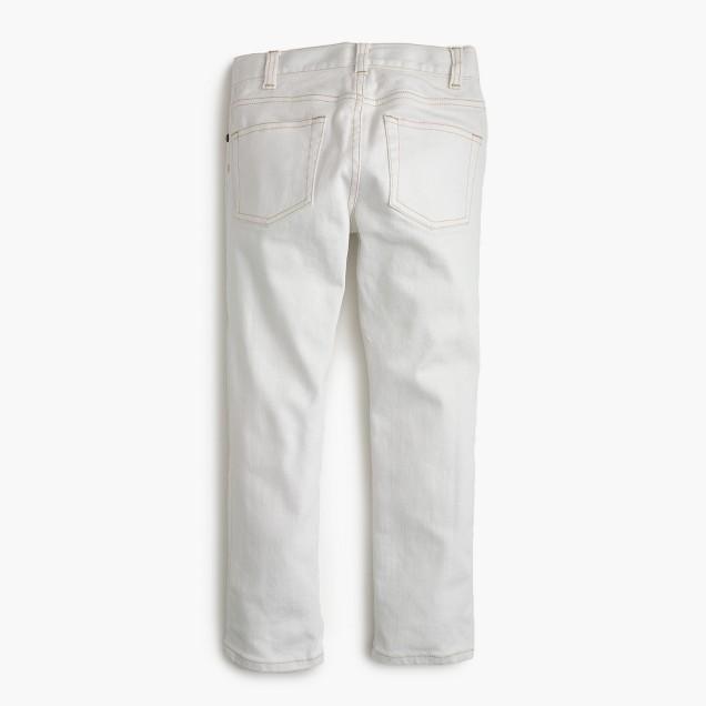 Boys' white jean in slim fit