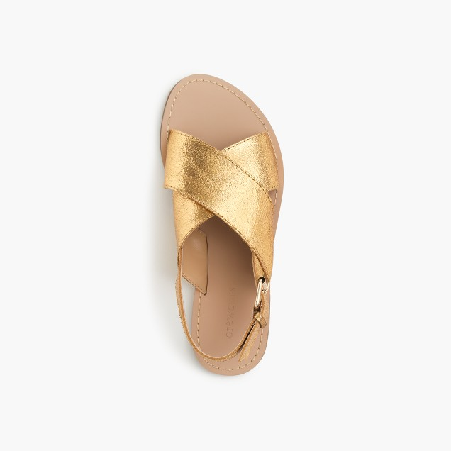 Girls' Cyprus suede sandals
