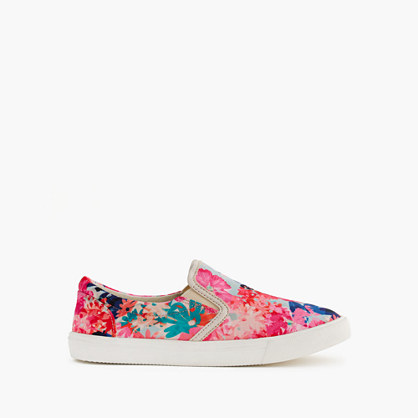 Girls' slide sneakers in stacked floral