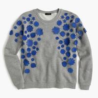 Embellished flower sweatshirt