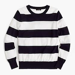 Summerweight sweater in stripe