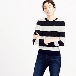 Summerweight sweater in stripe