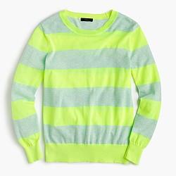 Summerweight sweater in neon stripe
