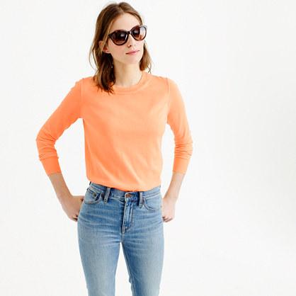 Summerweight sweater in neon