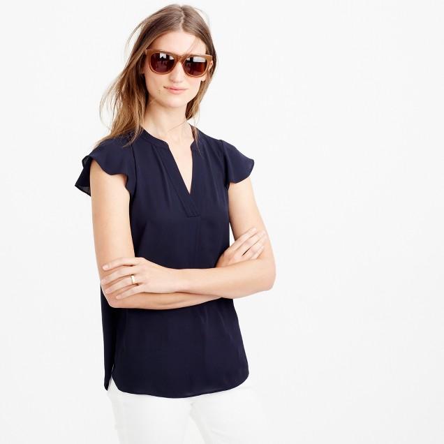 Flutter-sleeve top