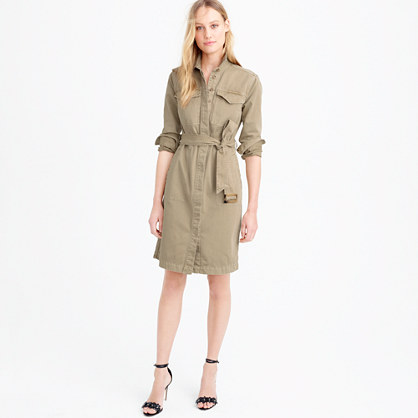 Belted chino shirtdress
