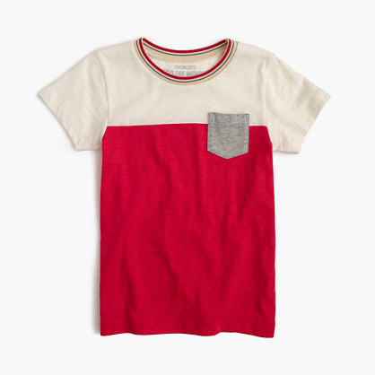 Boys' colorblock pocket T-shirt