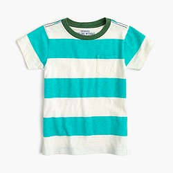 Boys' pocket T-shirt in deck stripe