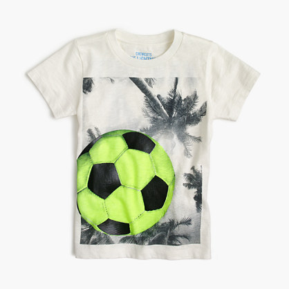 Boys' soccer ball T-shirt