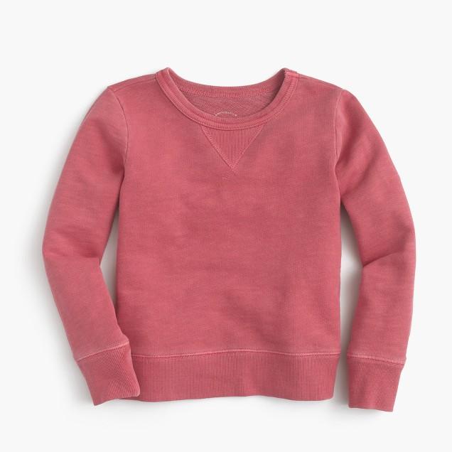 Kids' garment-dyed sweatshirt