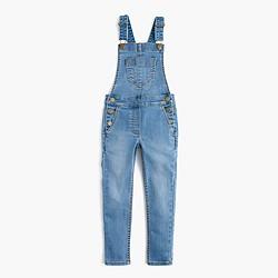 Girls' stretch denim overalls