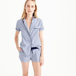 Button-up short pajama set