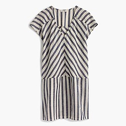 Striped beach tunic