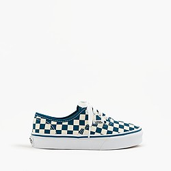 Kids' Vans® Authentic checkered sneakers in smaller sizes