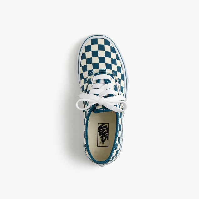 Kids' Vans® Authentic checkered sneakers