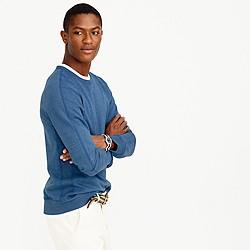 Reigning Champ® crest crewneck indigo sweatshirt