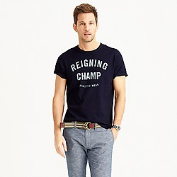 Reigning Champ® gym logo indigo T-shirt