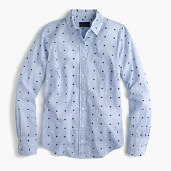 Petite perfect shirt in embroidered dot