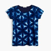 Girls' combo T-shirt in tie-dye