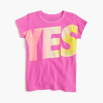 Girls' yes-no T-shirt