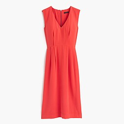 Petite sleeveless silk dress