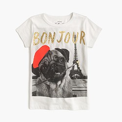 Girls' bonjour T-shirt