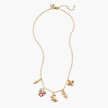 Girls' spring charm necklace