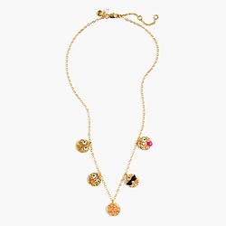 Girls' emoji charm necklace